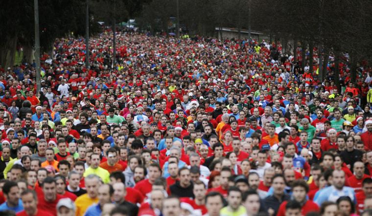 Image: SAN San Silvestre race held in Gijon