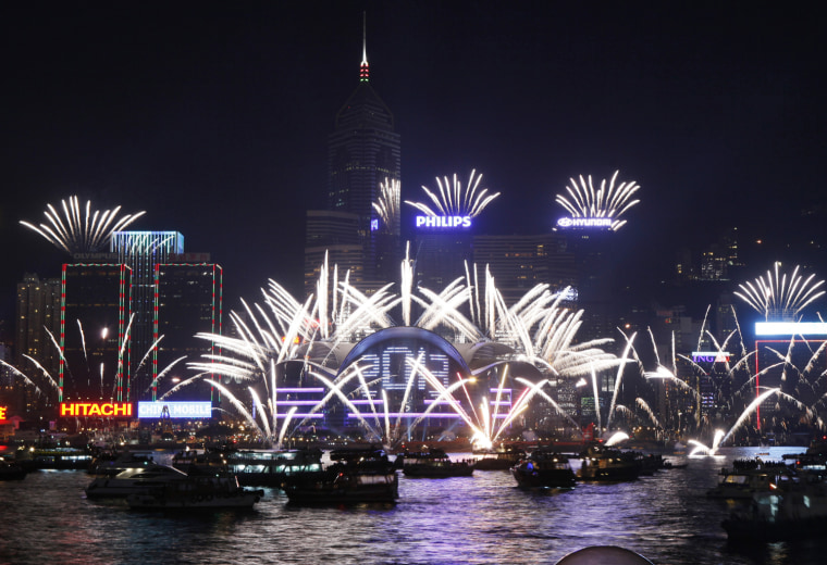 Image: New Year celebration in Hong Kong