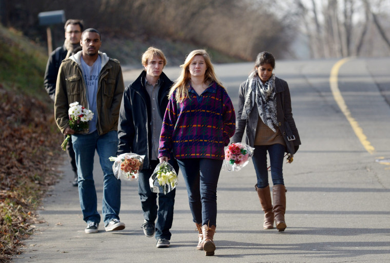 Image: Reaction to 28 people killed in shooting at elementary school in Newtown, Connecticiut