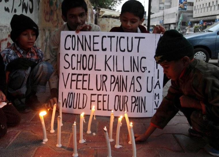 Image: Vigil For Victims Of Sandy Hook School Shooting - Pakistan