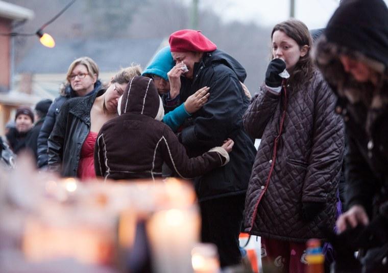 Image: Newtown after Sandy Hook school shooting