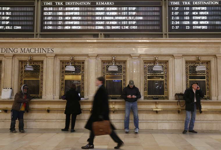 Image: Commuters move through the grand hall of Grand Central Terminal in New York
