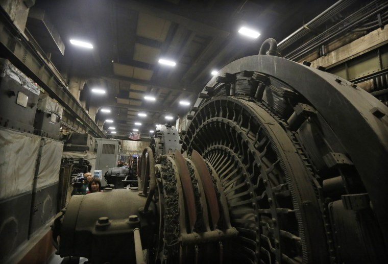 Image: Giant power transformers are seen seven stories below the main concourse in the power plant of Grand Central Terminal in New York