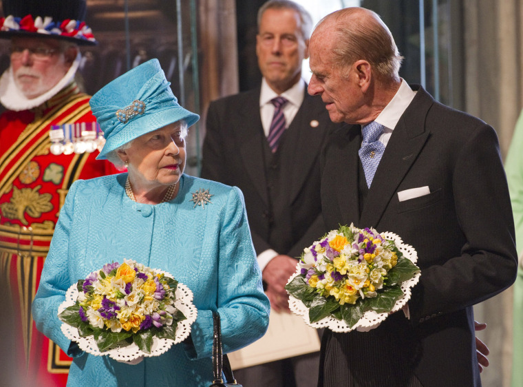 Image: Queen Elizabeth II Attends The Royal Maundy Service At Westminster Abbey