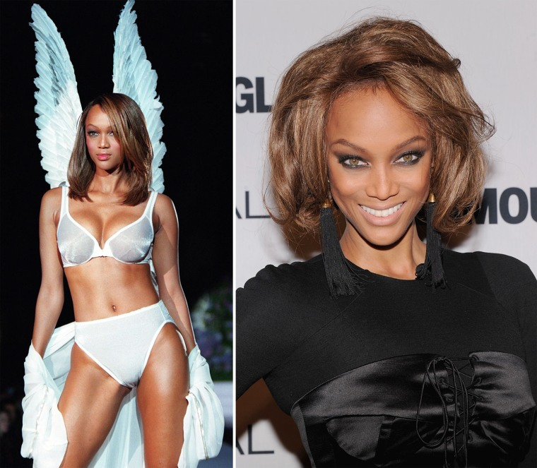 Tyra Banks On The Runway: Famous Faces: Supermodels Then And Now