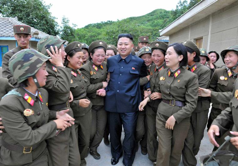 Image: North Korean leader Kim Jong-un visits Thrice Three-Revolution Red Flag Kamnamu Company under in Pyongyang