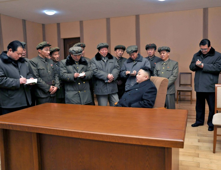 Image: North Korean leader Kim Jong-Un visits the West Sea Satellite Launch Site in Cholsan county