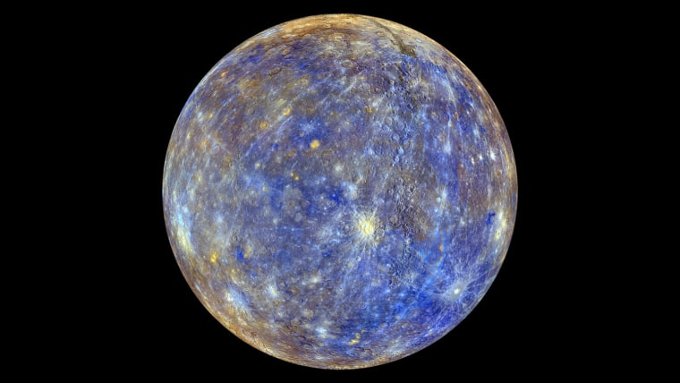 Image: Mercury is pictured in this NASA handout photo