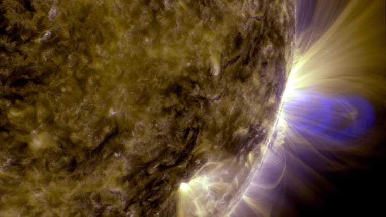 Image: Flux ropes on sun