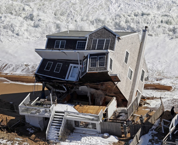 Image: Winter Storm Damages Homes On Plum Island