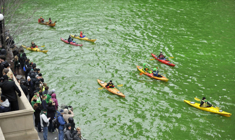 Image:  St. Patrick's Day, Chicago River