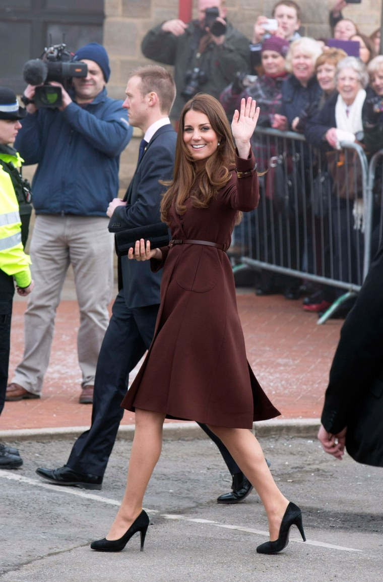 Image: The Duchess Of Cambridge Makes An Official Visit To Grimsby
