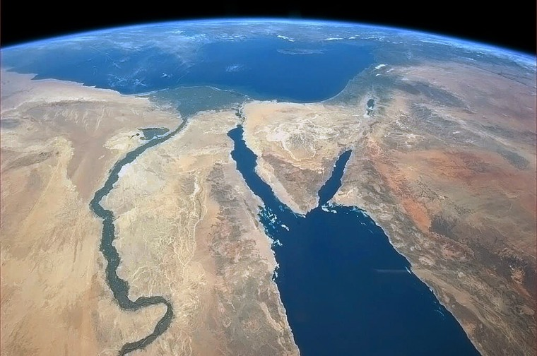 Image: US-SPACE-ISS-NILE-SINAI