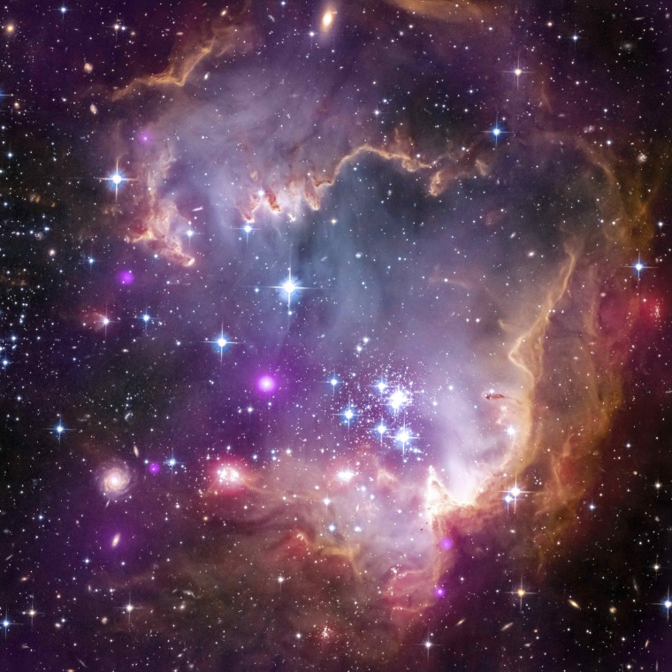 Image: NASA image of young stars in the Small Magellanic Cloud, one of the closest galaxies to our Milky Way