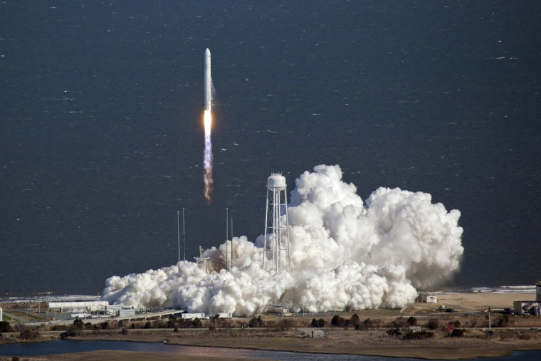 Image: Orbital Sciences Corp.'s Antares  rocket lifts off