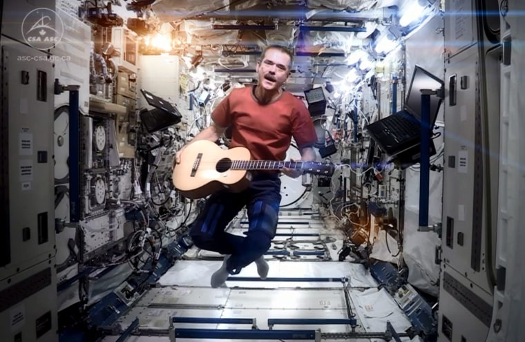 Image: Musical performance at space station