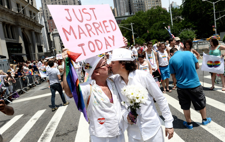 Image: Gay Pride march in New York
