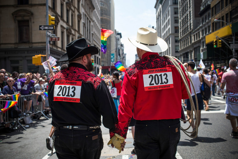 Image: New York Gay Pride On Display During Annual Parade