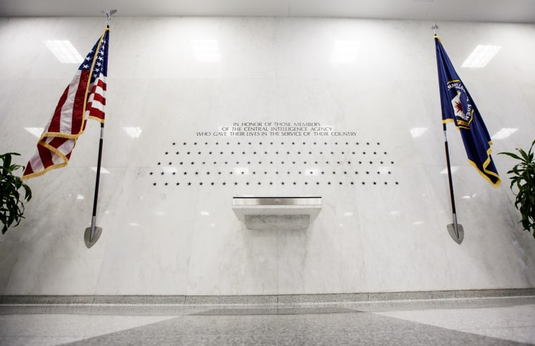 Saturday, July 29, 2013, in McLean, VA (John Makely / NBC News)  The CIA's Memorial Wall. located in the lobby of the original headquarters building honors the CIA personnel killed in the line of duty.
