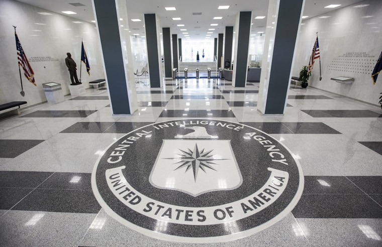 Saturday, July 29, 2013, in McLean, VA (John Makely / NBC News)  The CIA headquarters entrance.