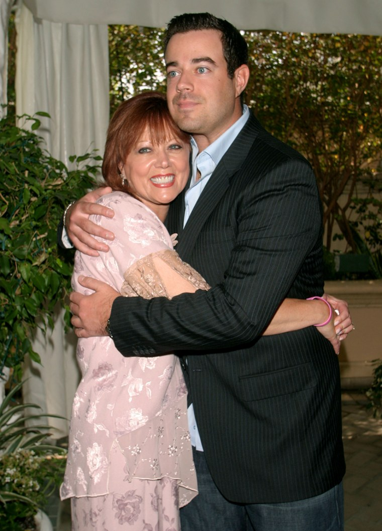 Carson Daly and his mother, Pattie Daly Caruso arrive for the Breast Cancer Heroes Luncheon hosted by Lifetime Television was held on Monday, September 27, 2004 at the Four Seasons Hotel in Los Angeles. (Mirek Towski/DMI via AP)