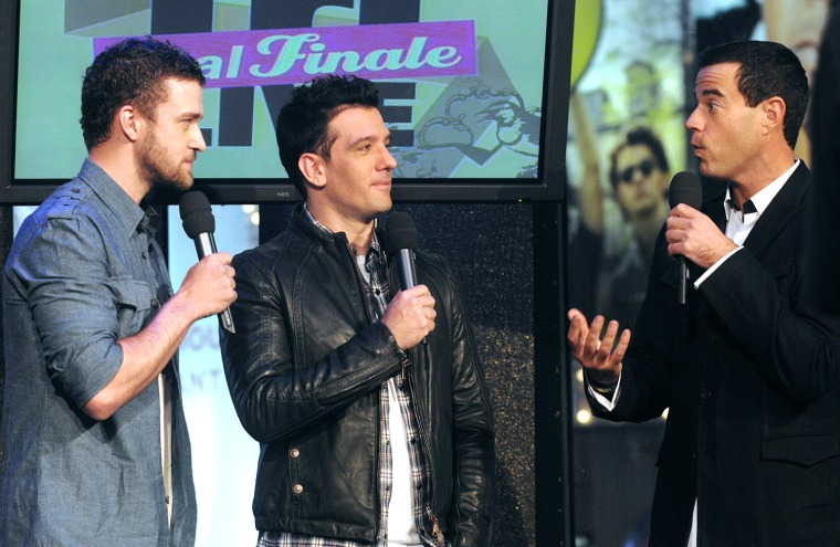 Carson Daly, Justin Timberlake, J.C. Chasez