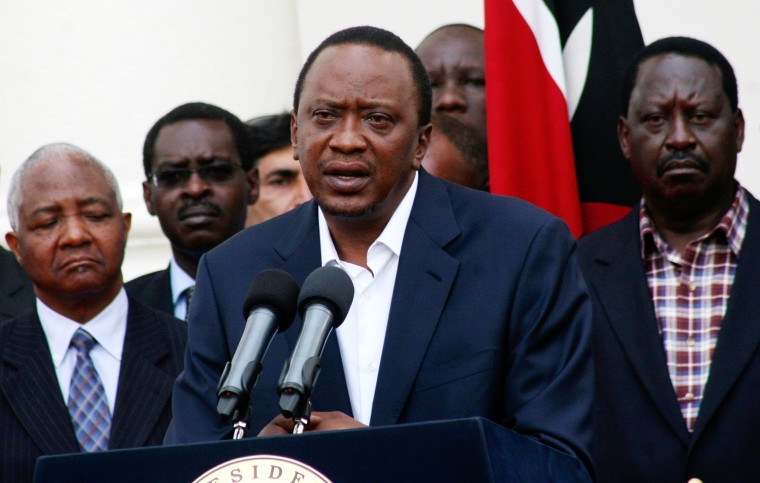 Image: Kenya's President Kenyatta addresses the nation on the Westgate shopping mall attack in the capital Nairobi