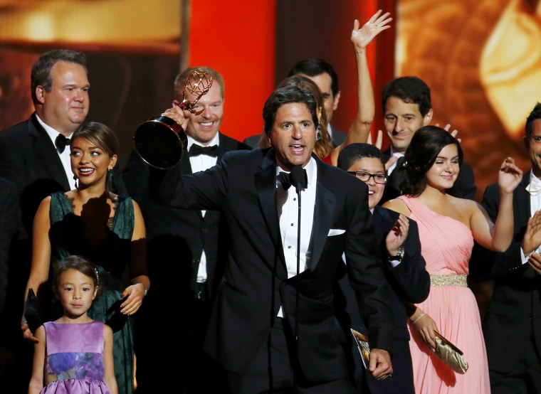"Image: Steven Levitan, executive producer, accepts the award for Outstanding Comedy Series for ""Modern Family"""