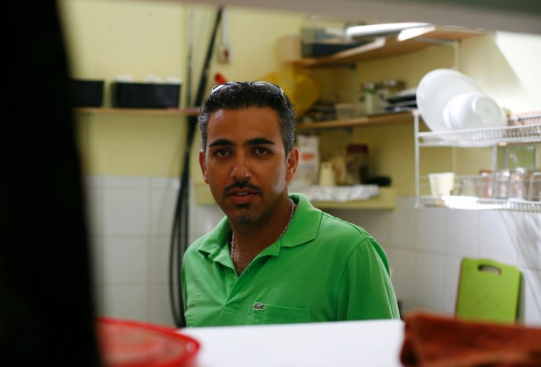 Faces of an Israeli settlement: Arik.