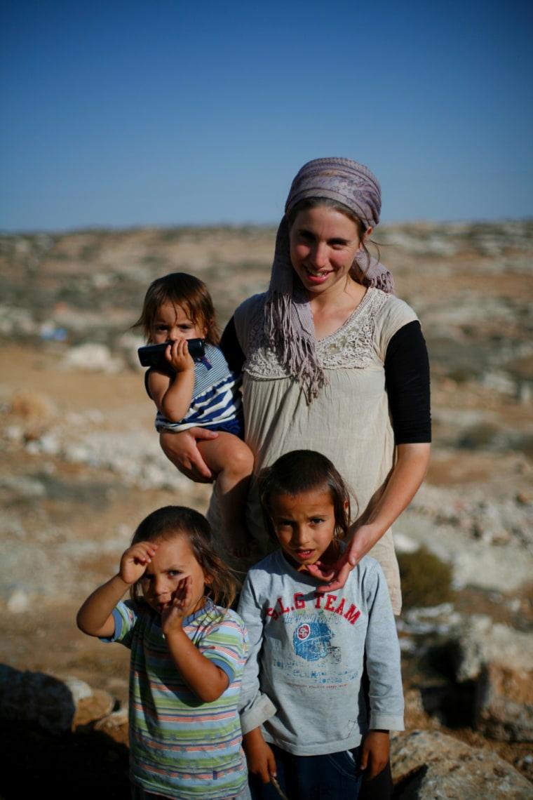 Faces of an Israeli settlement: Reut.