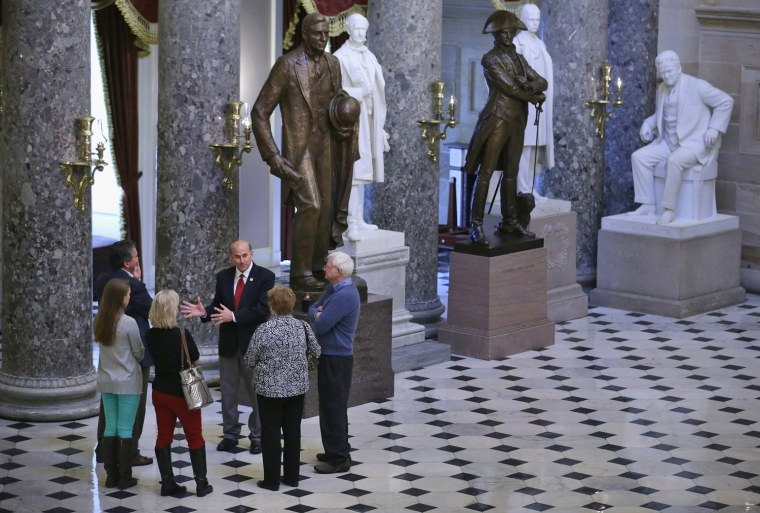 Image: Members Of Congress Lead Tours Of Capitol As Furloughs Hit Staffing