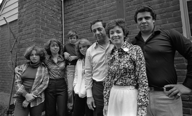 Image: Mario Cuomo, center, then a candidate for mayor, with his family, in New York.