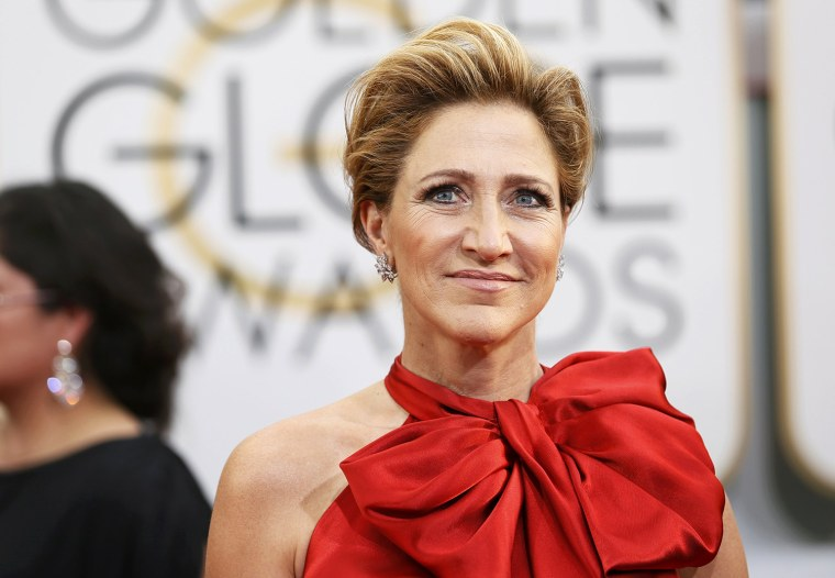 Image: Edie Falco arrives at the 71st annual Golden Globe Awards in Beverly Hills