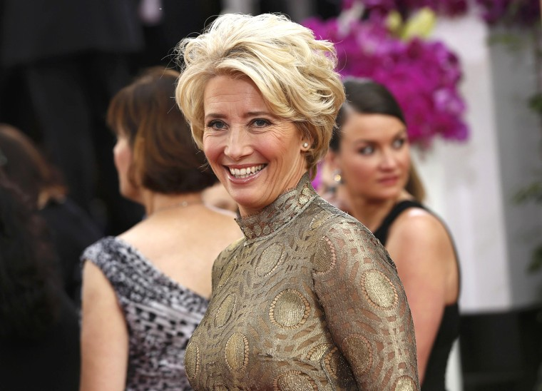 Image: Actress Emma Thompson arrives at the 71st annual Golden Globe Awards in Beverly Hills
