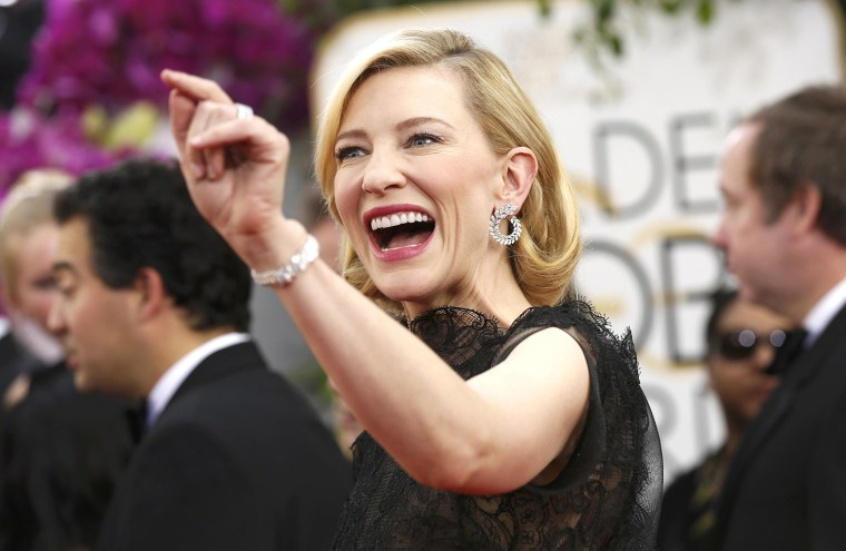 Image: Actress Cate Blanchett arrives at the 71st annual Golden Globe Awards in Beverly Hills
