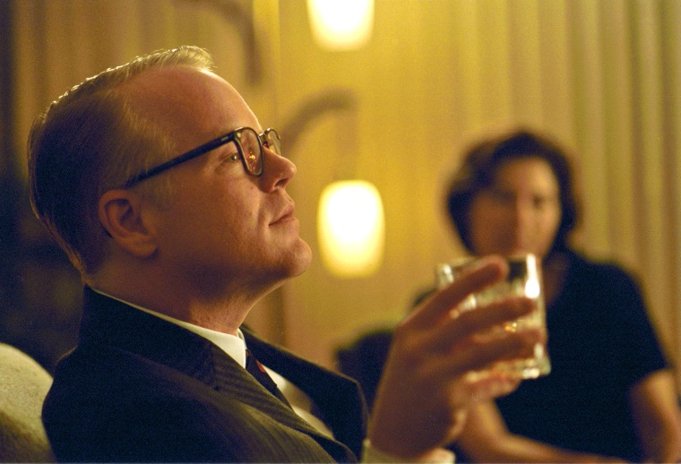 "In this undated publicity photo released by Sony Pictures Classics, Philip Seymour Hoffman portrays writer Truman Capote in a scene from the film, ""Capote."" (AP Photo/Attila Doroy, Sony Pictures Classics)"