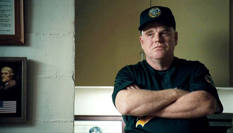 MONEYBALL, Philip Seymour Hoffman, 2011. ph: Melinda Sue Gordon/©Columbia Pictures/Courtesy Everett Collection