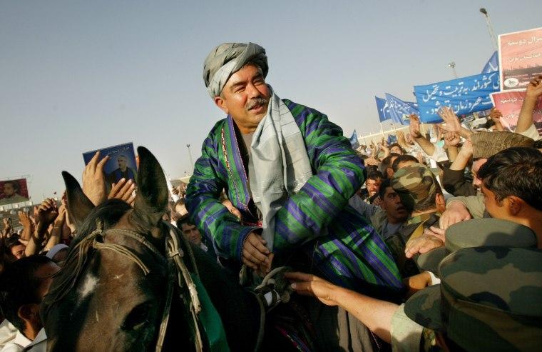 Image: General Abdul Rashid Dostum Holdsx Campaign Rally In Kabul