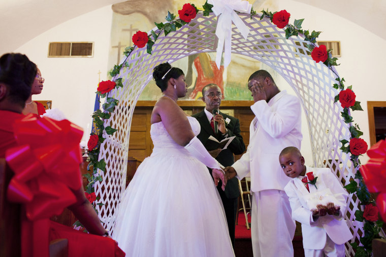 The wedding of Shameka DeShann Wilson and Samuel Lee Smith Jr. on Saturday, February 19, 2011 at Jennings Temple on Avenue G in Greenwood, Mississippi.