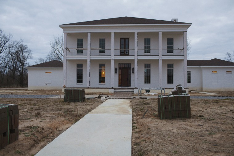 A home being built in the Robert E. Lee subdivision on the north side of Greenwood, Mississippi on January 31, 2014.