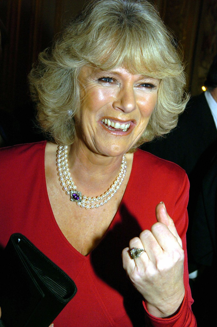 Camilla Parker Bowles shows off her enga