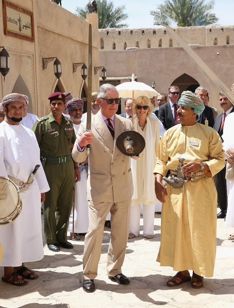 Image: Prince Charles And The Duchess Of Cornwall Visit Middle East - Day 8