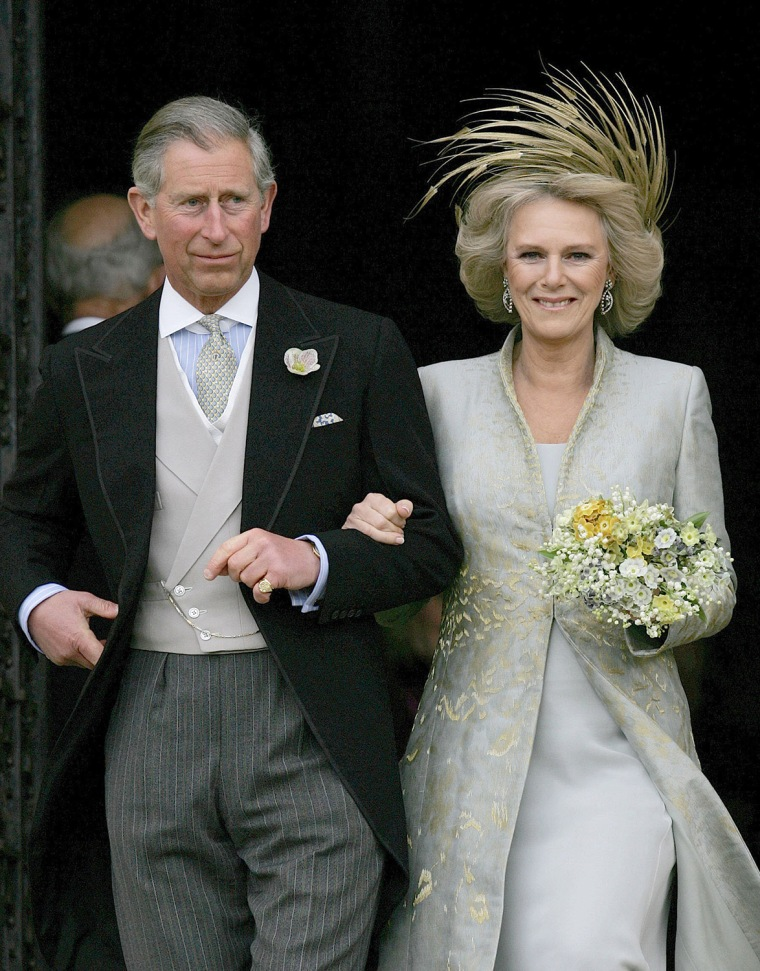 Britain's Prince Charles and his bride C