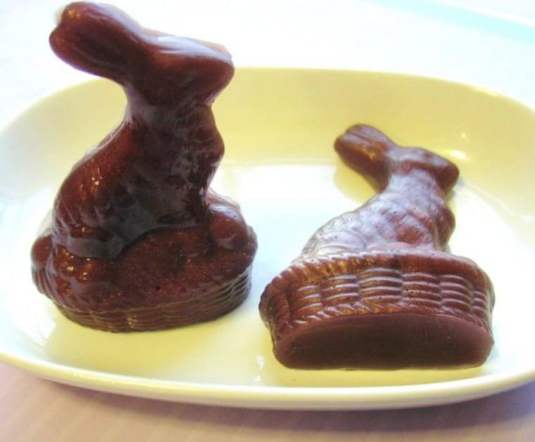 Chocolate Soap - Easter Bunny Soaps - Natural Glycerin - Rabbit Soap - Easter Soaps - Set of 2 Bunnies www.facebook.com/sunbasilgarden