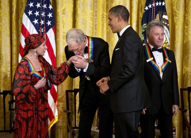 Barack Obama, Dustin Hoffman, David Letterman, Natalia Makarova