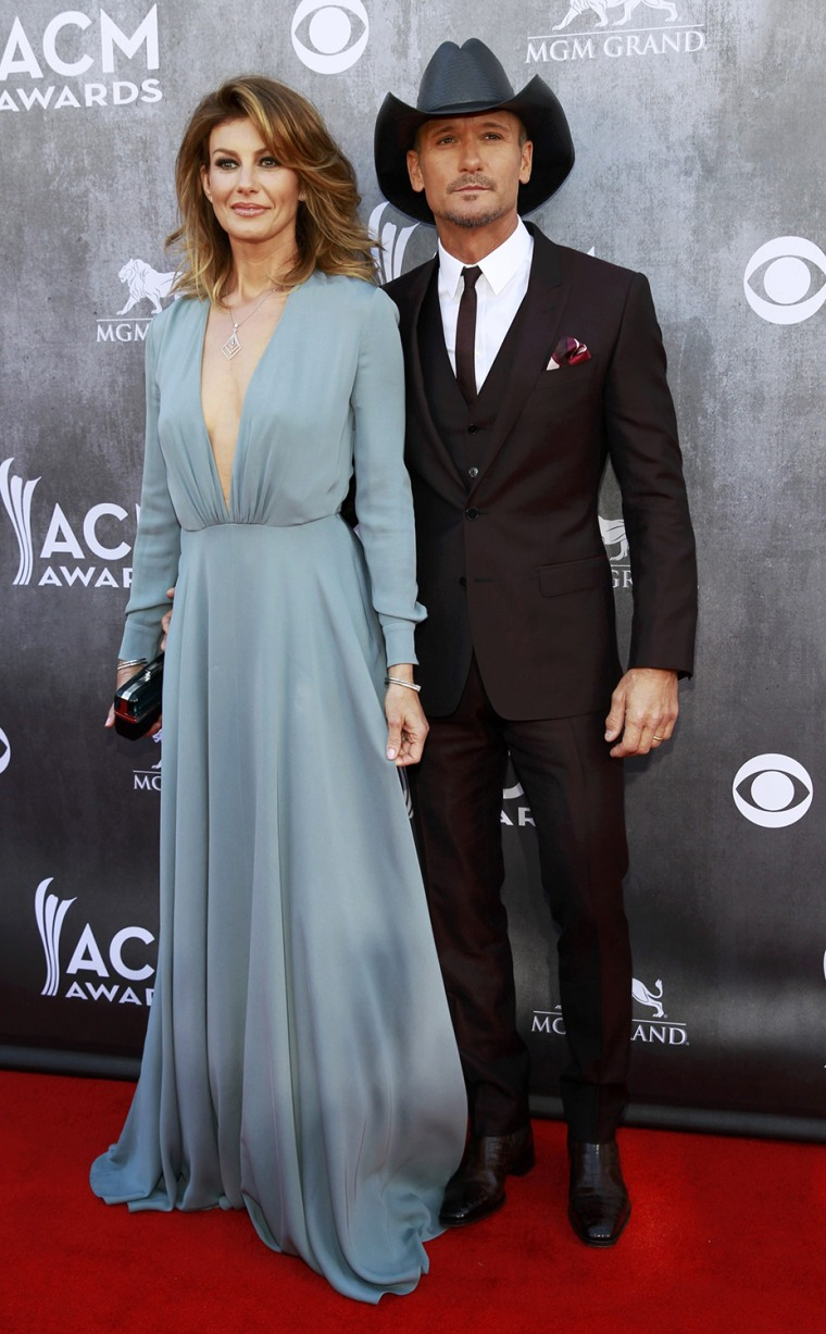Image: Faith Hill and Tim McGraw arrive at the 49th Annual Academy of Country Music Awards in Las Vegas
