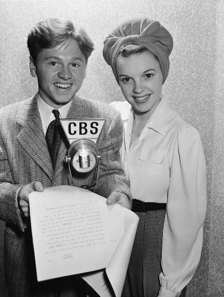 Image: FILE: Actor Mickey Rooney Dies At Age 93 Rooney & Garland On CBS Lux Radio Theater