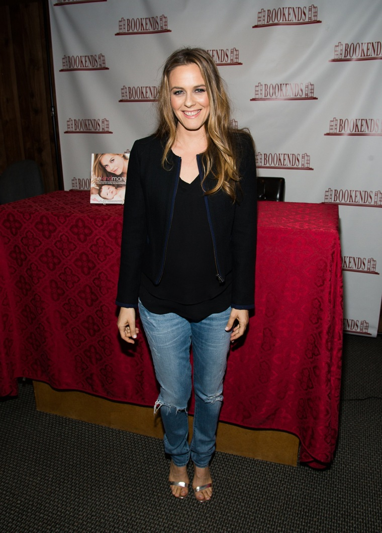 """Image: Alicia Silverstone Signs Copies Of Her Book """"The Kind Mamma"""""""