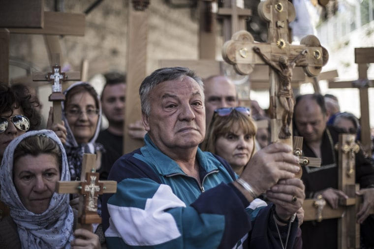 Image: Good Friday procession in Jerusalem