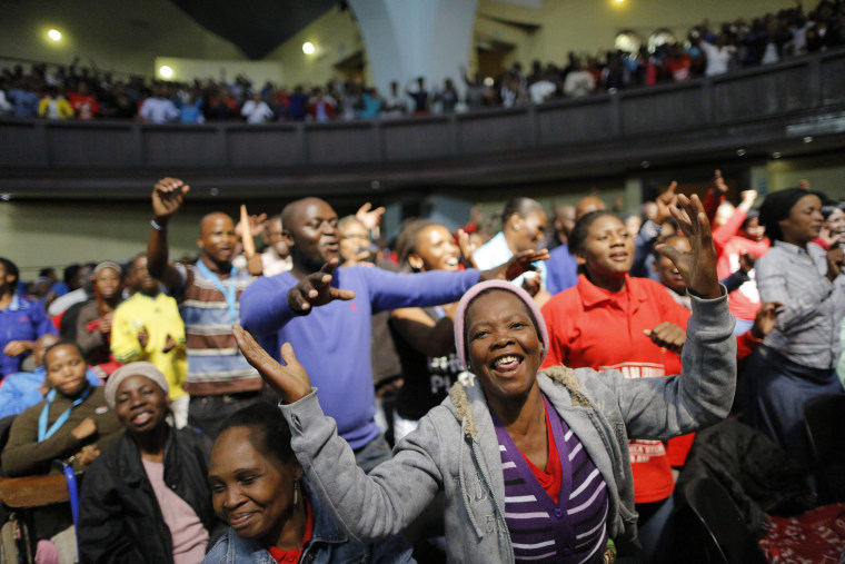Image: South Africa Easter chruch service